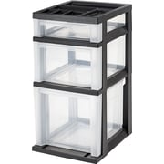 "Staples® 3-Drawer Medium Filing Storage Cart, Black, 24.0""H x 12.0""W x 14.8""L (115027)"