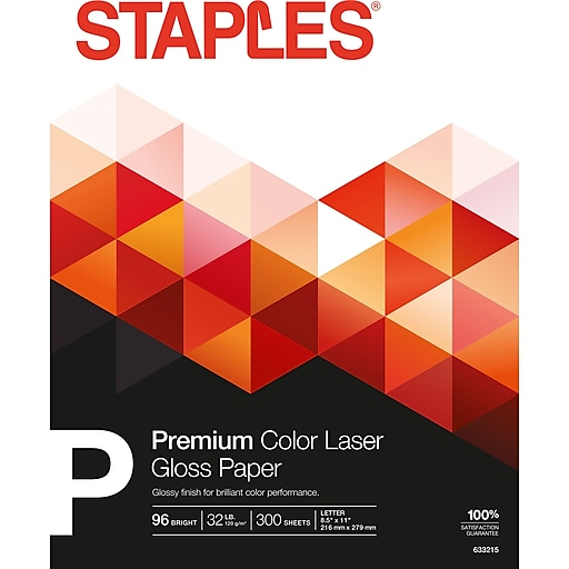 Staples Color Laser Paper 8 12 X 11 Glossy 300pack Staples