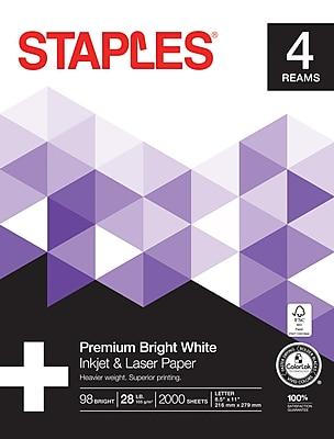 Staples Inkjet & Laser Paper, 8 1/2