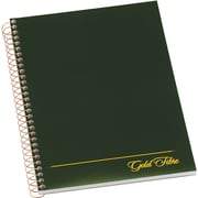 "Ampad® Gold Fibre Executive Series Project Planning Notebook, Project Ruled, Green, 9-1/2"" x 7-1/4"" (20816)"