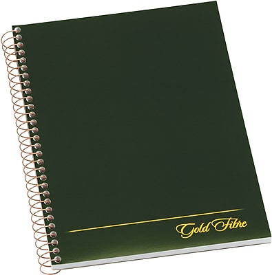Ampad® Gold Fibre Executive Series Project Planning Notebook, Project Ruled, Green, 9-1/2