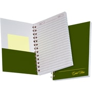 "Ampad Gold Fibre® Personal Notebook, White, 7"" x 5"", College Ruled, 100 Sheets/Bk"