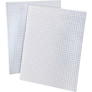 "Ampad® Efficiency Graph Pad, 8-1/2"" x 11"", 4 x 4 Quadrille Ruled, White, 50 Sheets, Each (22-030)"