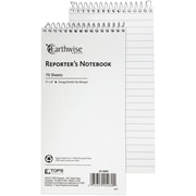 "Ampad Greencycle Reporters Notebook, 4"" x 8"", White, 100% Recycled Backing, Gregg Ruled, 70 Sheets/Pad (25-280)"
