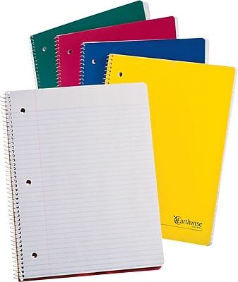 Ampad® Envirotec™ Recycled Wirebound 1 Subject Notebook, 8-1/2