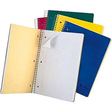 Ampad® Envirotec™ Recycled Wirebound 3 Subject Notebook, 8-1/2