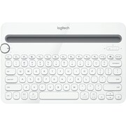 Logitech® K480 Bluetooth Wireless Multi-Device Keyboard, White (920-006343)