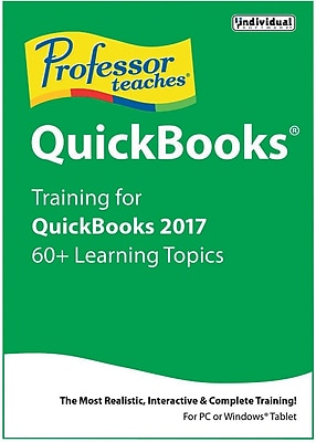Individual Software Professor Teaches QuickBooks 2017 for Windows (1 User) [Download]