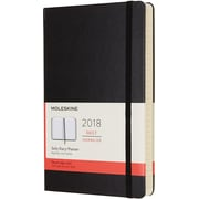 2018 MOLESKINE 12M DAILY NOTEBOOK, 5x8, LARGE BLACK HARD (853903)