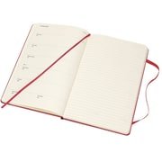 2018 MOLESKINE 12M WEEKLY NOTEBOOK, 5x8, LARGE BERRY ROSE HARD (855723)