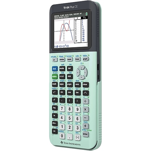 Texas Instruments TI-84 CE Color Screen Graphing Calculator, Mint ...