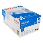 "Staples® Multiuse Copy Paper, 20 Lb., 94 Bright, 8 1/2"" x 11"", White, 8-Ream Case (26860-CC)"