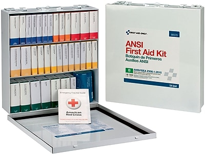 First Aid Only® 100 Person 54 Unit First Aid Kit, ANSI B, Weatherproof Steel Case, Type III (90570)