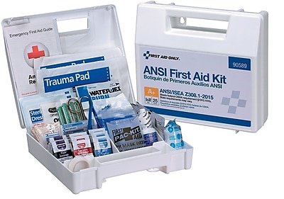 First Aid Only® 25 Person, Bulk First Aid Kit, Plastic, ANSI A+, Type I & II (90589)