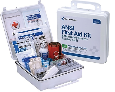 First Aid Only™ Bulk ANSI B Type III Weatherproof Hard Plastic First Aid Kit for up to 50 People (90566)