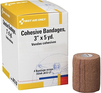 First Aid Only™ Cohesive Elastic Bandage Wrap You Can Tear, Latex-Free, 3