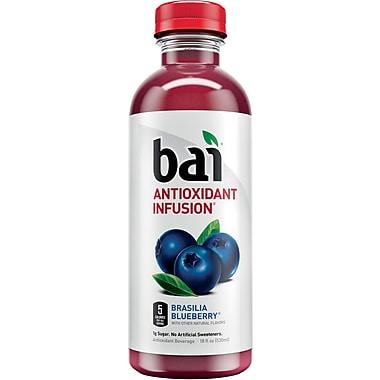 Bai Brasilia Blueberry, Antioxidant Infused Beverage, 18 Fl. Oz. Bottles, 12/Pack