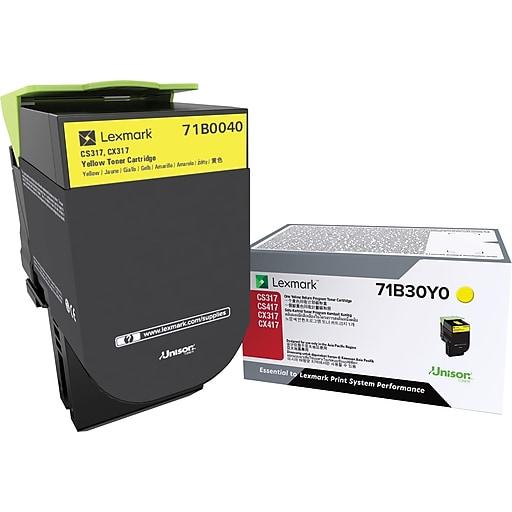 Lexmark CS/X317 Yellow Toner Cartridge (71B0040)