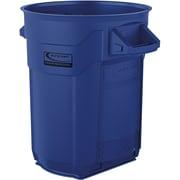 Suncast Commercial Utility Trash Can, 20 Gallon, Blue (BMTCU20BL)