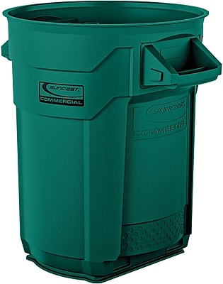 Suncast Commercial Utility Trash Can, 20 Gallon, Green (BMTCU20G)