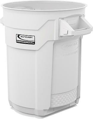 Suncast Commercial Utility Trash Can, 20 Gallon, White (BMTCU20W)