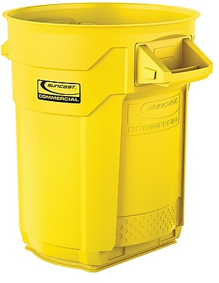 Suncast Commercial Utility Trash Can, 20 Gallon, Yellow (BMTCU20Y)