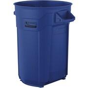 Suncast Commercial Utility Trash Can 32 Gallon, Blue (BMTCU32BL)