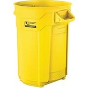 Suncast Commercial Utility Trash Can, 32 Gallon, Yellow (BMTCU32Y)