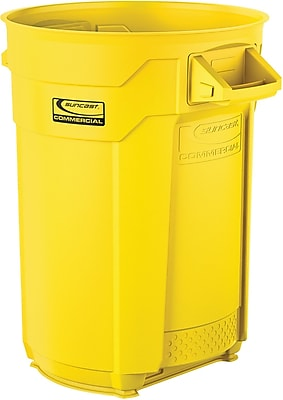 Suncast Commercial Utility Trash Can, 32 Gallon, Yellow (BMTCU32Y)
