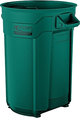 Suncast Commercial Utility Trash Can, 44 Gallon, Green (BMTCU44G)