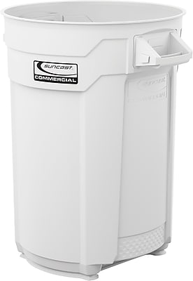 Suncast Commercial Utility Trash Can, 44 Gallon, White (BMTCU44W)