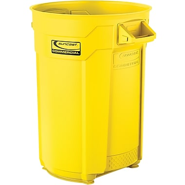 Suncast Commercial Utility Trash Can, 44 Gallon, Yellow (BMTCU44Y)