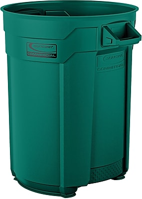 Suncast Commercial Utility Trash Can, 55 Gallon, Green (BMTCU55G)