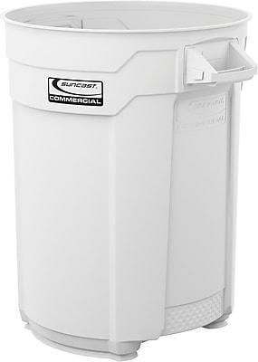 Suncast Commercial Utility Trash Can, 55 Gallon, White (BMTCU55W)