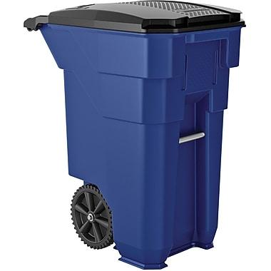 Suncast Commercial Wheeled Trash Can, 50 Gallon Blue (BMTCW50BL)