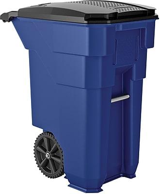 Suncast Commercial Wheeled Trash Can, 50 Gallon, Blue (BMTCW50BL)