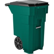 Suncast Commercial Wheeled Trash Can, 50 Gallon Green (BMTCW50G)