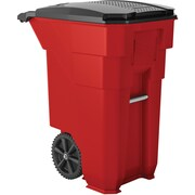 Suncast Commercial Wheeled Trash Can, 50 Gallon Red (BTCW50R)