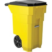 Suncast Commercial Wheeled Trash Can, 50 Gallon Yellow (BMTCW50Y)