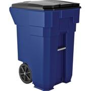Suncast Commercial Wheeled Trash Can, 65 Gallon, Blue (BMTCW50Y)