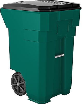 Suncast Commercial Wheeled Trash Can, 65 Gallon, Green (BMTCW65G)