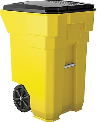 Suncast Commercial Wheeled Trash Can, 65 Gallon, Yellow (BMTCW65Y)