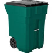 Suncast Commercial Wheeled Trash Can, 96 Gallon Green (BMTCW96G)