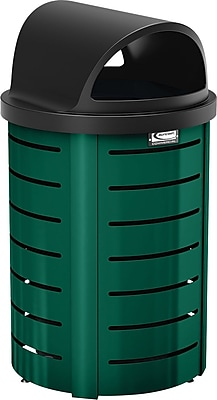 Suncast Commercial Metal Trash Can Roto Molded Lid, Green (MTCRND3501G)