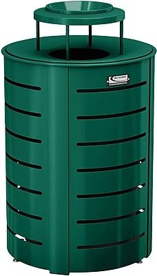 Suncast Commercial Metal Trash Can Metal Lid, Green (MTCRND3502G)