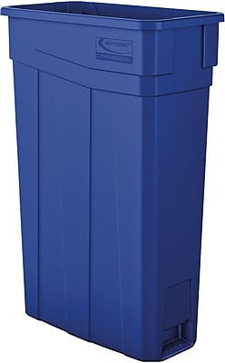 Suncast Commercial Slim Trash Can, 23 Gallon, Blue (TCN2030BL)