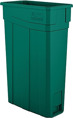 Suncast Commercial Slim Trash Can, 23 Gallon, Green (TCN2030G)