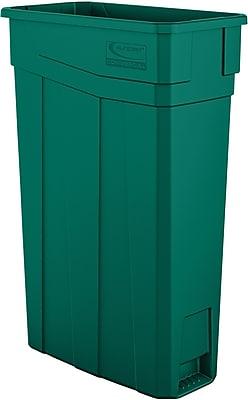 Suncast Commercial Slim Trash Can, 23 Gallon, Green (TCN2030G)