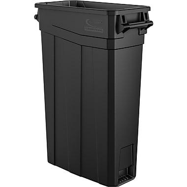 Suncast Commercial Slim Trash Can w/ Handles, 23 Black (TCNH2030BK)