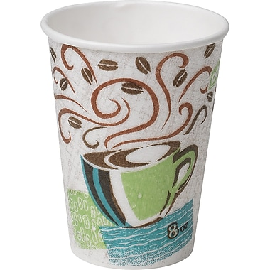 Dixie PerfecTouch 8 oz. Hot Cups, 500/Case